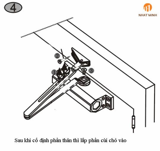 Cách Lắp Đặt Tay Co Thủy Lực ( Tay đẩy hơi/Cùi chỏ hơi)- by nhatminhlocks.com - 0911 144 000